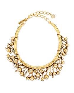 Oscar De La Renta - Ball & Crystal Necklace