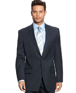 Alfani  - Navy Sharkskin Blazer Jacket