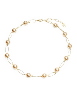 Lauren Ralph Lauren - Pearl And Oval Collar Necklace
