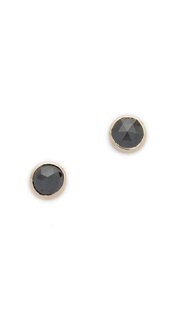 Blanca Monros Gomez  - Black Diamond Bezel Stud Earrings