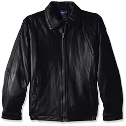 Nautica - Zip-Front Leather Jacket
