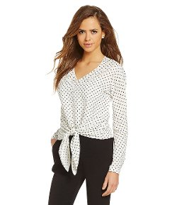 Gianni Bini - Breanna Dot-Print Blouse