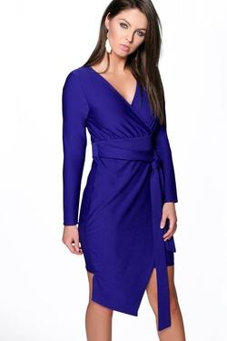 Boohoo Night - Belt Wrap Dress
