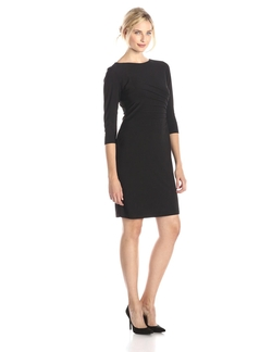 Tiana B - Jersey Three-Quarter Sleeve Dress