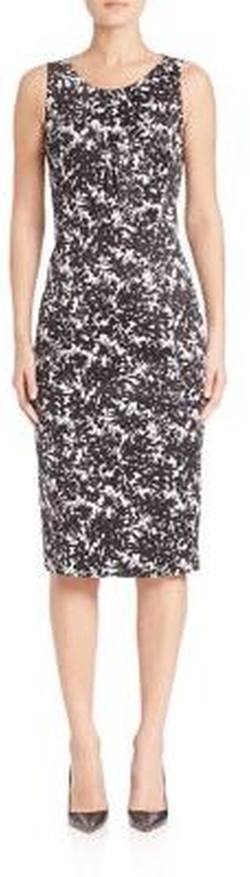 Michael Kors - Collection Floral-Print Sheath Dress