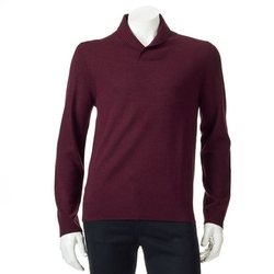 Apt. 9 - Modern-Fit Solid Merino Shawl-Collar Sweater