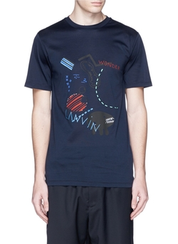 Lanvin - Monster Sketch Print Cotton T-Shirt
