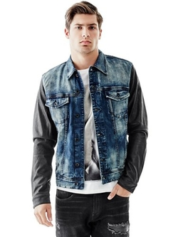 Guess  - Dillon Faux-leather Sleeve Jacket