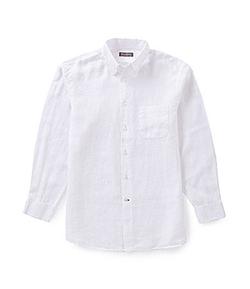 Daniel Cremieux - Long-Sleeve Solid Linen Sportshirt