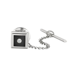 Stel - Diamond Accent Tie Tack