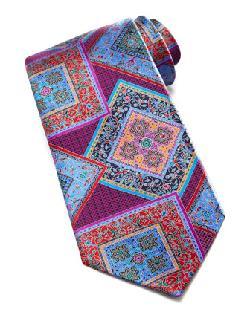 Ermenegildo Zegna - Quindici Squares Silk Tie, Fuchsia