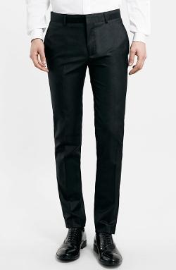 Topman  - Ultra Skinny Tuxedo Trousers