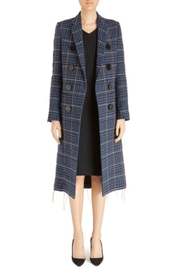Victoria Beckham  - Stitch Detail Houndstooth Coat