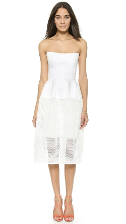 Nicholas - Honeycomb Mesh Ball Dress