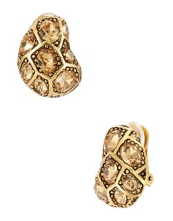 Oscar De La Renta - Pave Earrings