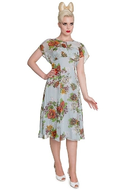 Hell Bunny  - Florrie Retro Vintage Dress