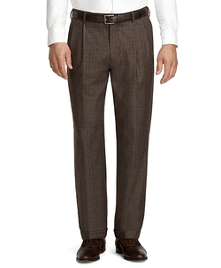 Brooks Brothers - Madison Fit Plaid Pleat-Front Dress Trousers