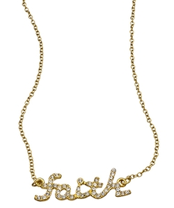 Blu Bijoux  - Faith Word Necklace