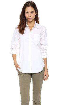 Nili Lotan - Poplin Button Down Blouse