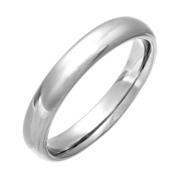 Spring Ballet - Plain Dome Polished Wedding Band Ring