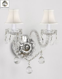 The Gallery - Murano Venetian Style All-Crystal Wall Sconce