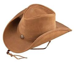 Henschel  - Hats Lightweight Leather Cowboy Hat with Concho Band and Shapeable Brim