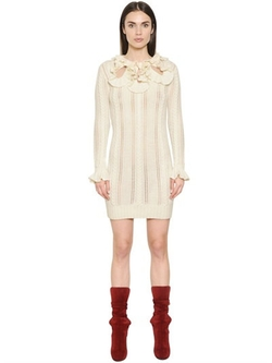 Philosophy Di Lorenzo Serafini - Ruffled Wool & Alpaca Blend Dress