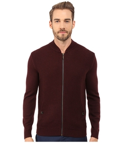 Ted Baker  - Duk Knitted Long Sleeve Bomber Jacket