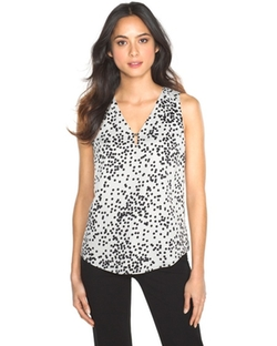 White House Black Market - Polka Dot Shell Top