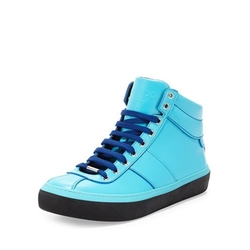 Jimmy Choo - Leather High-Top Sneakers