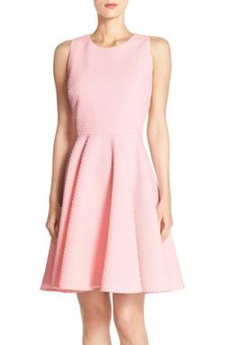 Gabby Skye - Jacquard Knit Fit & Flare Dress