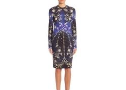 Roberto Cavalli - Long-Sleeve Printed Sheath Dress