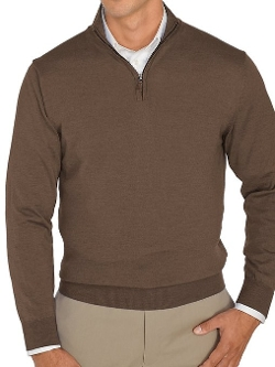 Paul Fredrick - Wool Half Zip Pullover Sweater