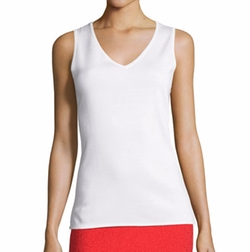 St. John Collection - Milano Knit V-Neck Shell Top