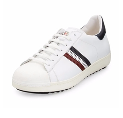 Moncler  - Perforated Tricolor-Stripe Low-Top Sneakers