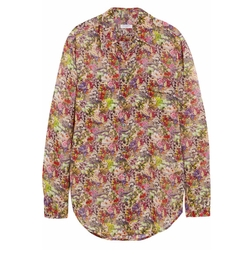 Equipment - Signature Floral-Print Silk-Chiffon Shirt