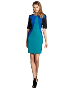 Julia Jordan - Crepe Colorblock Stretch Knit Dress