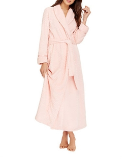 Oscar De La Renta - Long Plush Robe