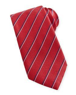 Brioni   - Stripe Silk Tie