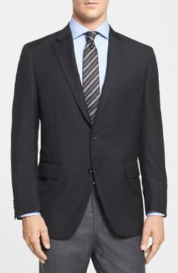 Peter Millar  - Classic Fit Black Wool Sport Coat