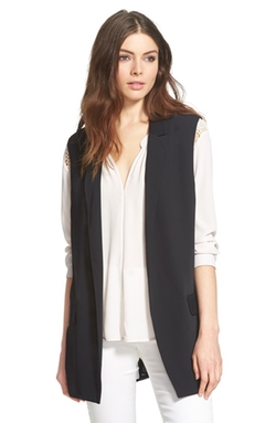 Astr - Pleat Back Longline Vest