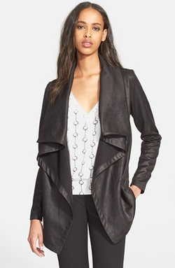 The Kooples - Drape Neck Coated Knit Jacket