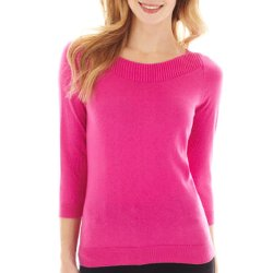 Worthington - 3/4-Sleeve Boatneck Sweater