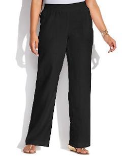 INC  - International Concepts Plus Size Wide-Leg Linen Pants