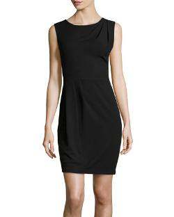 Halston Heritage	  - Sleeveless Pleated Cocktail Dress