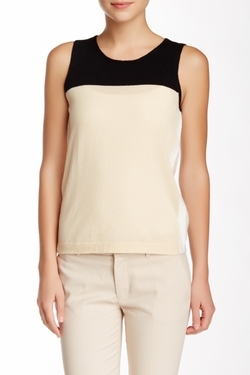 Magaschoni - Colorblock Cashmere Tank Top