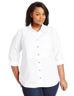 Jones New York  - Plus-Size Long Shirt with Pleated