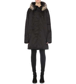 Yeezy - Faux-Fur Hooded Shell Coat