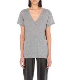 Helmut Lang  - Deep V-Neck Jersey T-Shirt