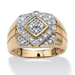 Lux  - Round Diamond Geometric Ring